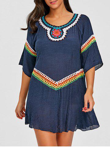 Online Tribal Crochet Detail Cover Up Top