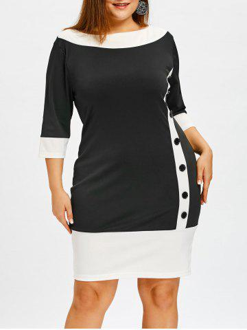 Store Color Block Plus Size Bodycon Dress