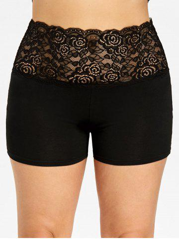Online Plus Size Lace Trim Scalloped Edge Safety Shorts