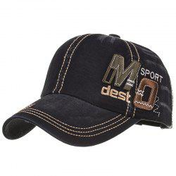 Unique MO Embroidery Adjustable Baseball Cap -