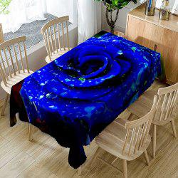 Valentine's Day Rose Printed Waterproof Table Cloth -