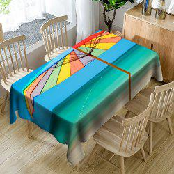 Beach Umbrella Printed Waterproof Table Cloth -