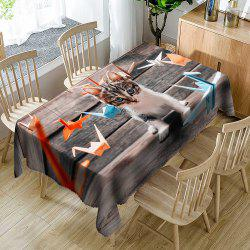 Kitten Papercranes Printed Waterproof Table Cloth -