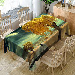 Road Tree Pattern Indoor Outdoor Table Cloth -