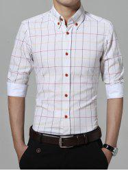 Classic Checked Pattern Button Down Shirt -