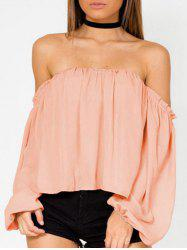 Lantern Sleeve Off The Shoulder Blouse -