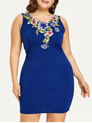 Plus Size Embroidered Evening Dress -