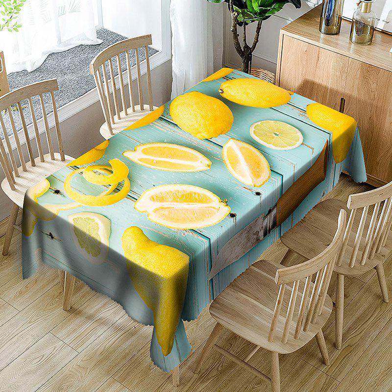 New Lemon Print Waterproof Table Cloth