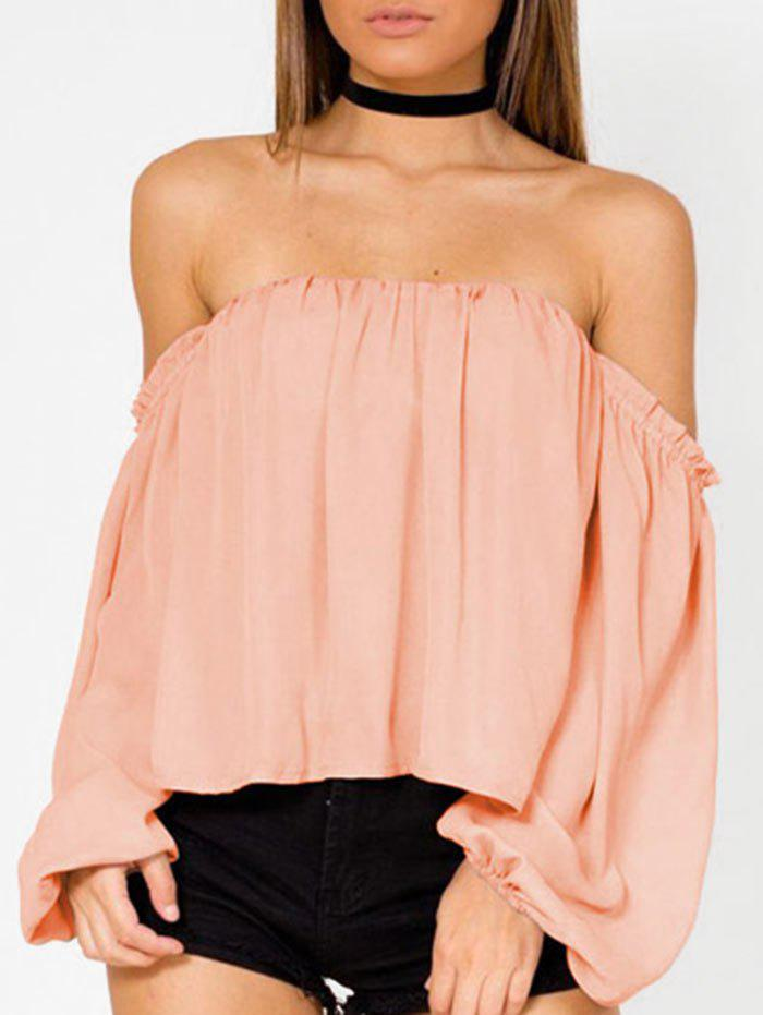 Best Lantern Sleeve Off The Shoulder Blouse