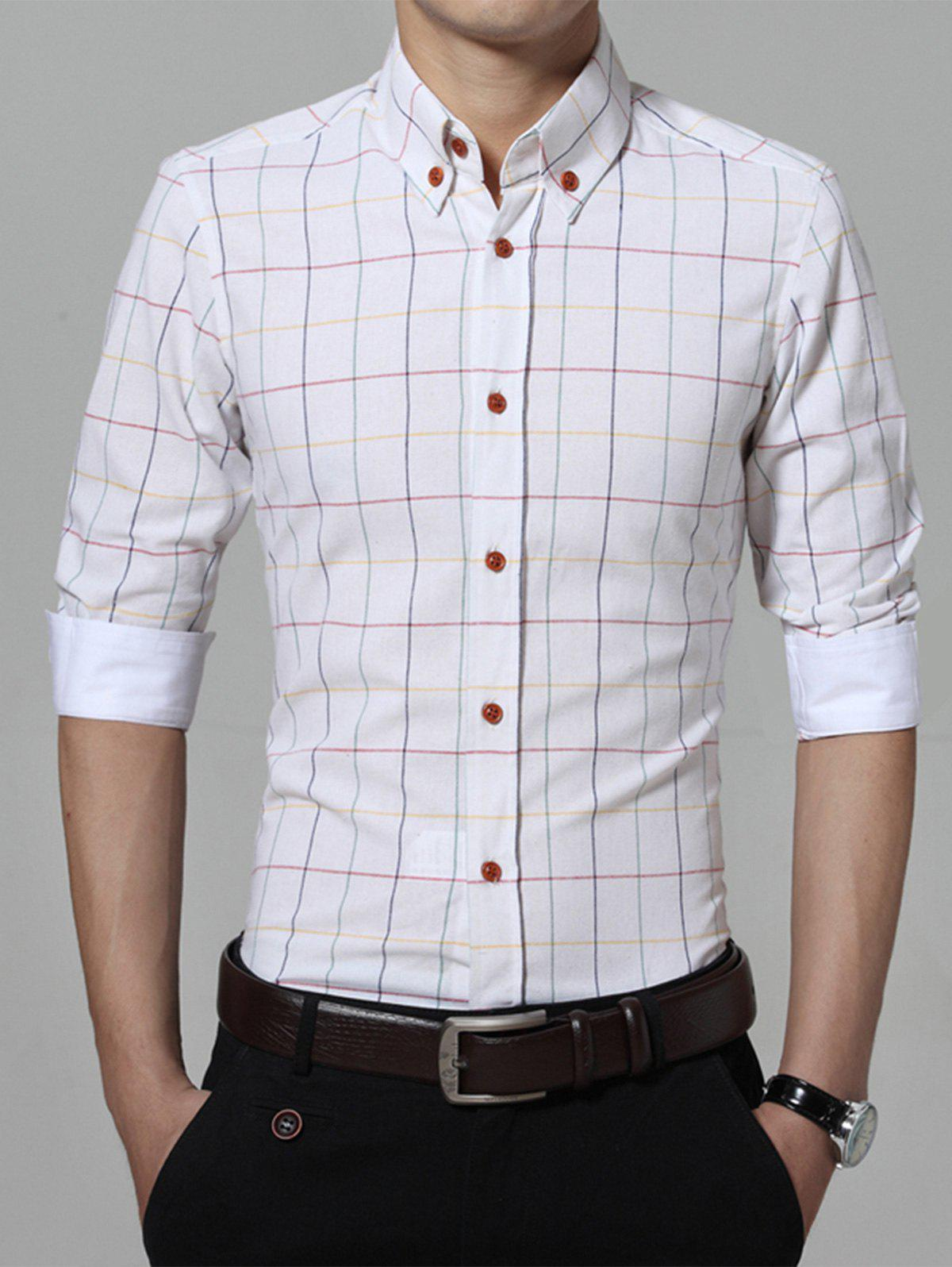 Best Classic Checked Pattern Button Down Shirt