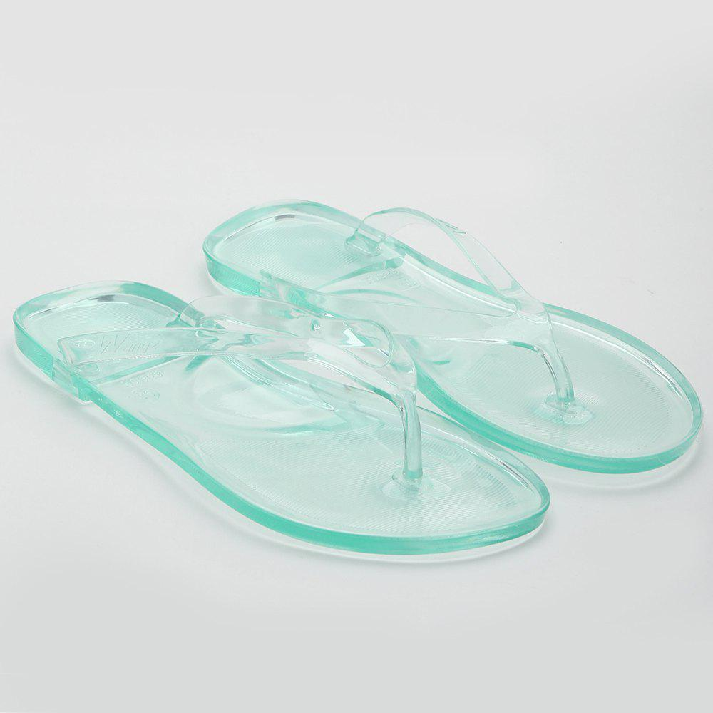 Trendy Casual Beach Flat Clear Flip Flops