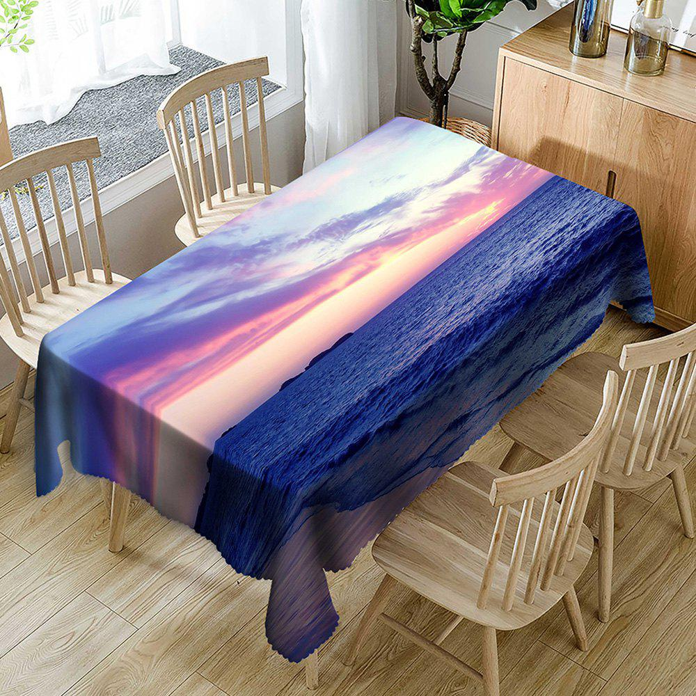 Chic Beach Scenery Printed Waterproof Table Cloth