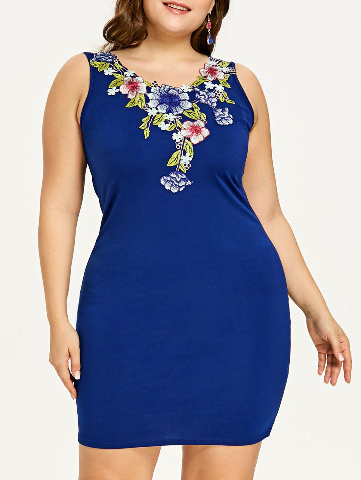 Fancy Plus Size Embroidered Evening Dress