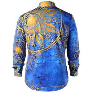 Maya Totem Print Long Sleeve Shirt -