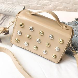 Box Studded Crossbody Bag -