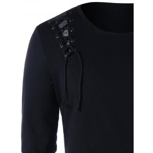 Lace Up Long Sleeve T-shirt -