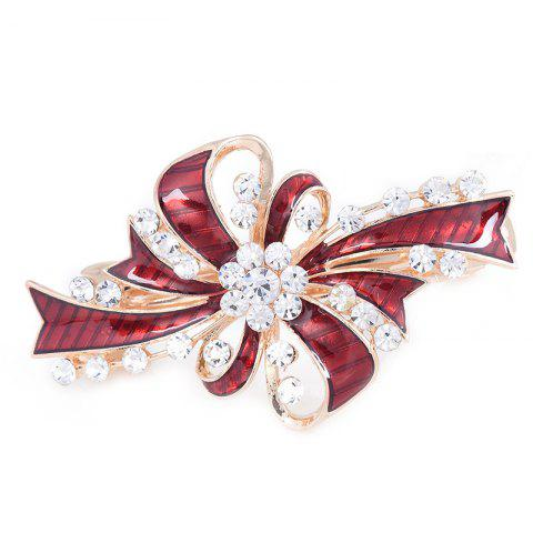 Hot Rhinestone Inlay Bowknot Decorated Barrette