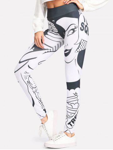 Fancy Cartoon Characters High Waisted Leggings