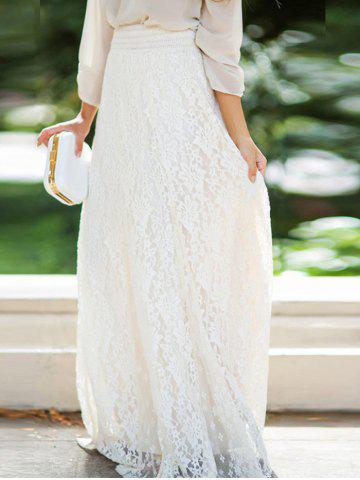 Store Lace A-line Maxi Skirt