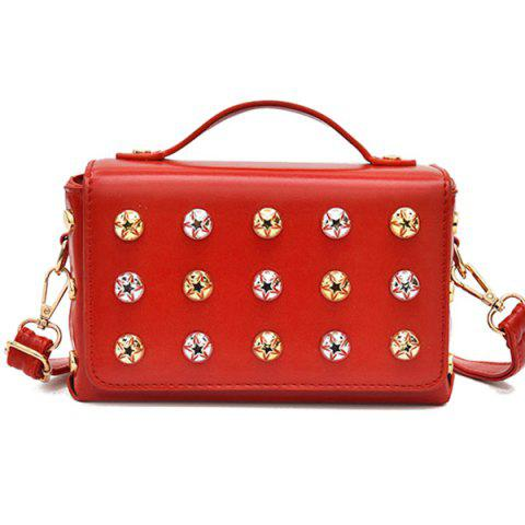 Online Box Studded Crossbody Bag