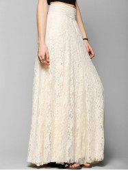 Lace A-line Maxi Skirt -