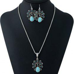 Ethnic Style Faux Crystal Decorated Necklace and Earrings -