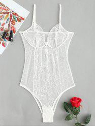 Sheer Lingerie Lace Bodysuit -