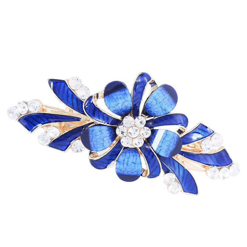 Cheap Rhinestone Floral Pattern Embellished Barrette
