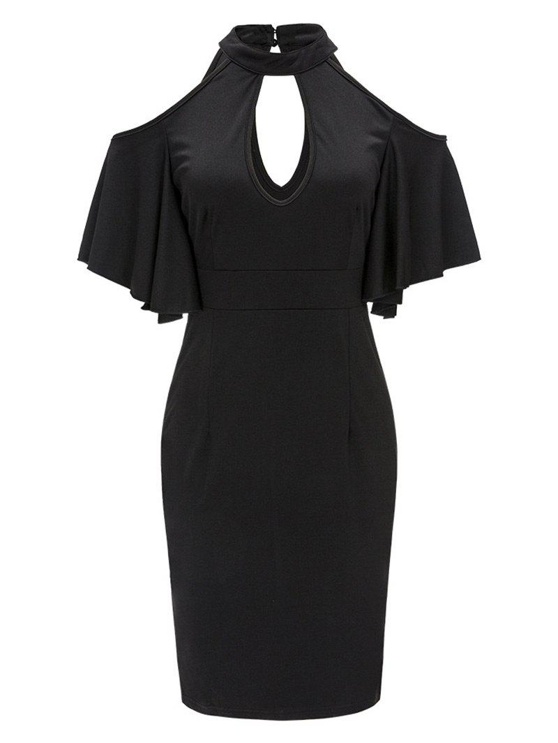 Buy Keyhole Neck Halter Bodycon Dress
