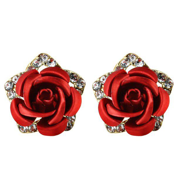 Affordable Rhinestone Flower Stud Tiny Earrings
