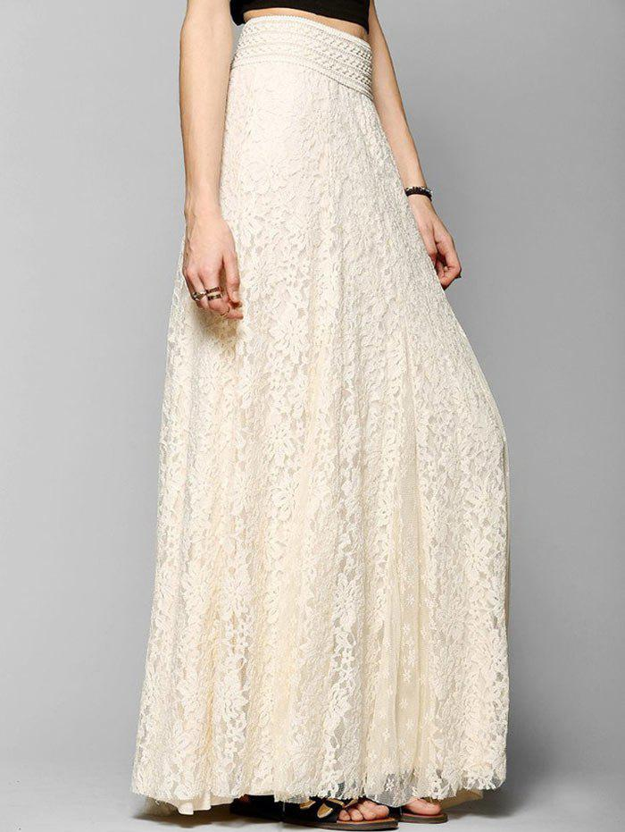 Fancy Lace A-line Maxi Skirt