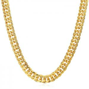 Punk Plated Exaggerate Pattern Chain Necklace -