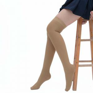 Simple Striped Pattern Knee High Socks -