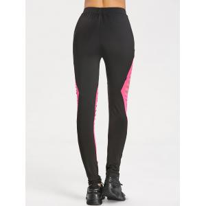 High Waist Ripped Sports Leggings -