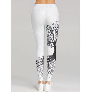 Branch Print Skinny Workout Leggings -