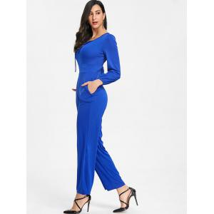 Lace Up Wide Leg Jumpsuit -