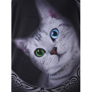 Halter Cat 3D Print Graphic Tee -
