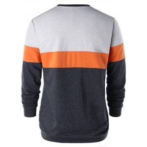 Sweat-shirt en Bloc de Couleur Tunique -