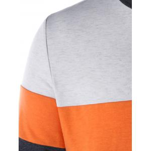 Color Block Tunic Sweatshirt -