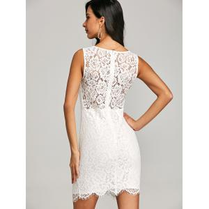 V Neck Sleeveless Embroidery Dress -