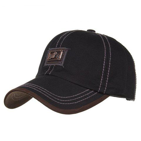 Unique Motorcycle Metal Bar Embellished Baseball Cap
