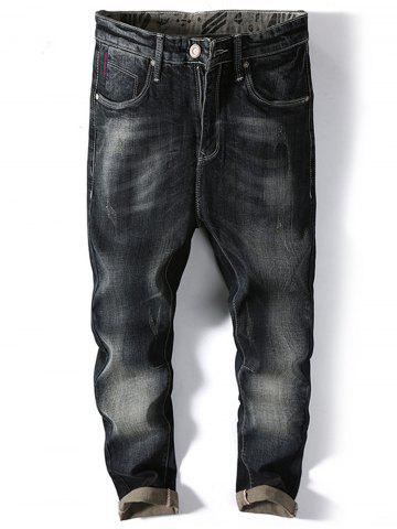 New Straight Leg Faded Jeans