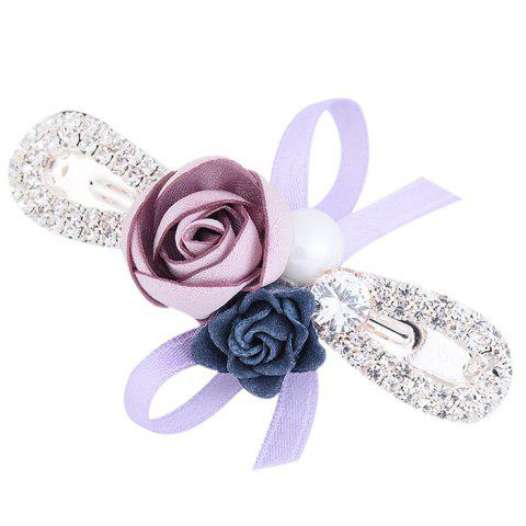 Fashion Romantic Rose Bowknot Embellished Hairclip
