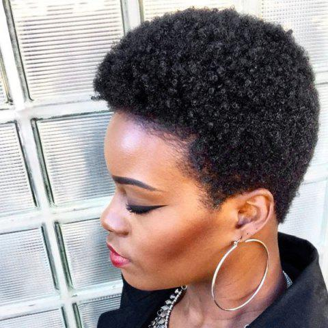 Unique Short Fluffy Afro Curly Human Hair Wig
