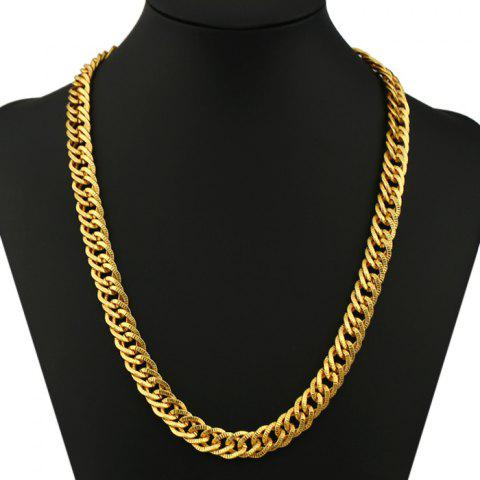 Shops Punk Plated Exaggerate Pattern Chain Necklace