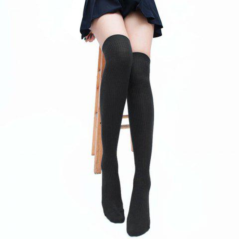 Trendy Simple Striped Pattern Knee High Socks