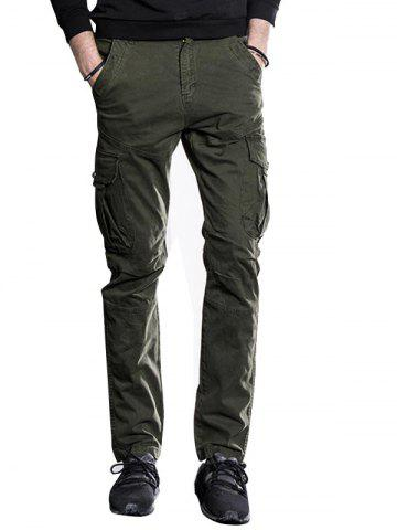 Slim Fit Multi Pockets Cargo Pants