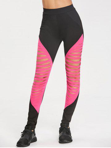 New High Waist Ripped Sports Leggings