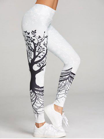 Hot Branch Print Skinny Workout Leggings