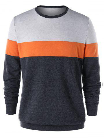 Cheap Color Block Tunic Sweatshirt